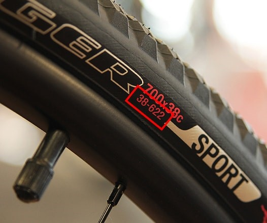 ETRTO bike tyre sizing can be found on tyre sidewall