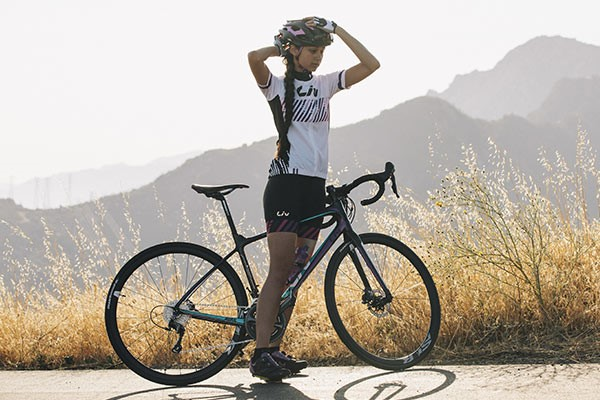 Female cyclist on a Liv womens specific bike