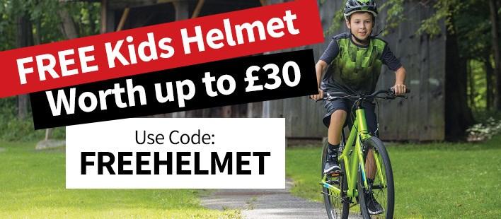 Free Kids Helmet Worth up to £30
