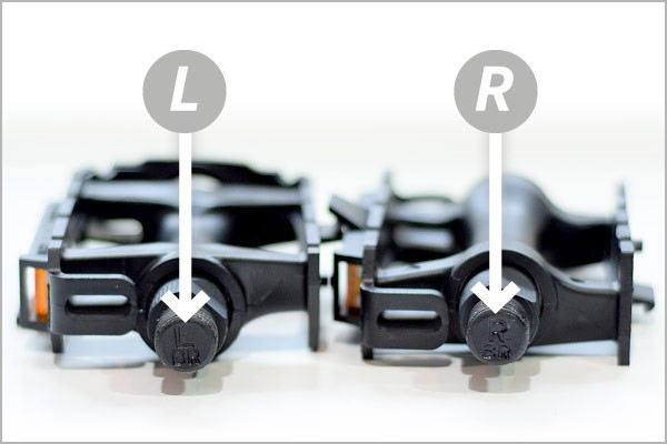 Identifying left and right pedals