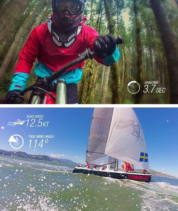 Garmin sports action camera footage