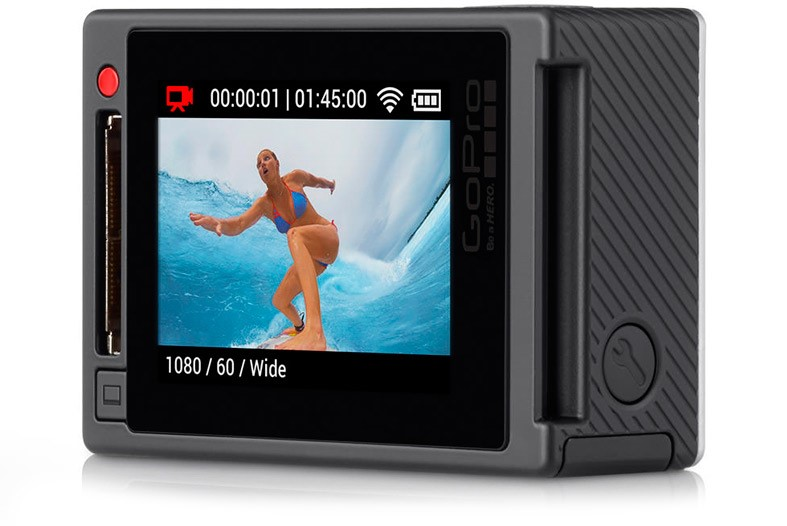 Sports action camera display