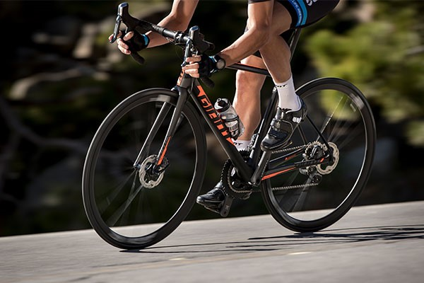Giant road bike with fast wheels