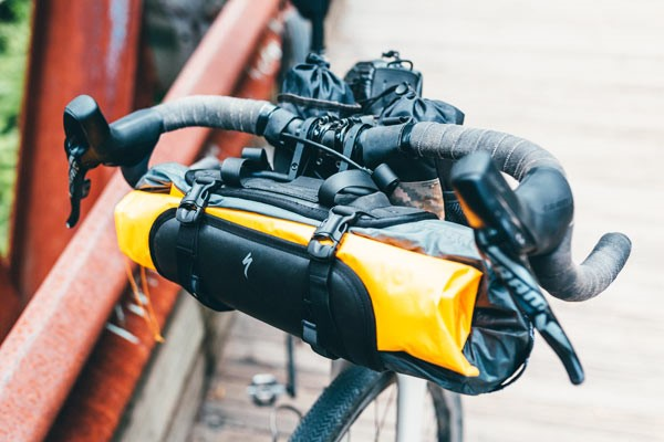 handlebar bag on bike