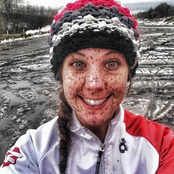 Danni Flawn mud and snow