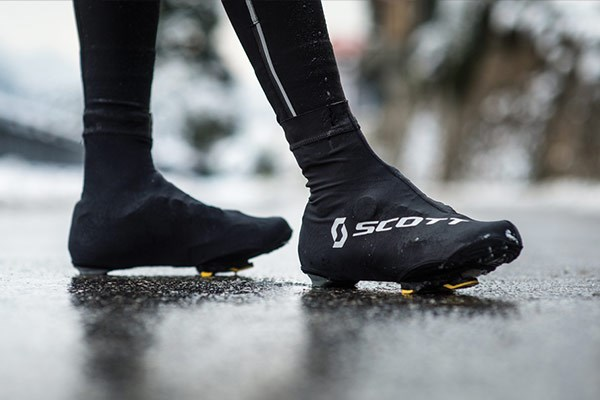 Overshoes being worn in colder weather
