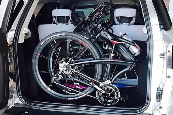 Commuter with a folding bike