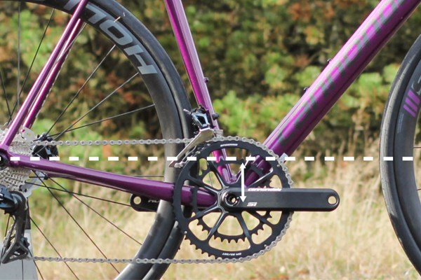 Road bike bottom bracket height
