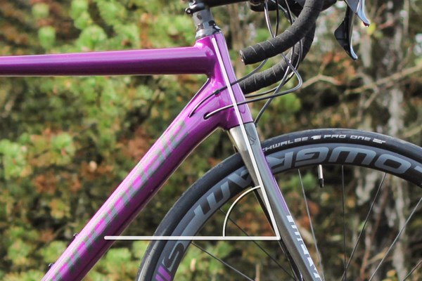 Road bike head tube angle