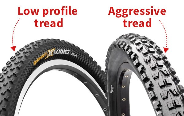 Low profile and aggressive tread
