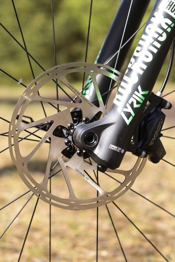Specialized Turbo Kenevo brake rotor adn Lyric fork lowers