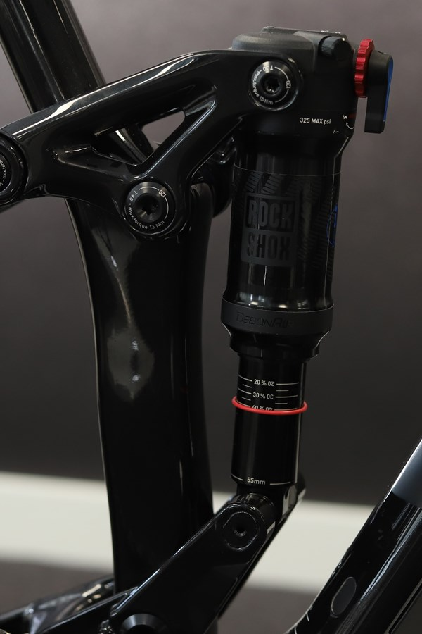 Merida One-Twenty suspension fork detail