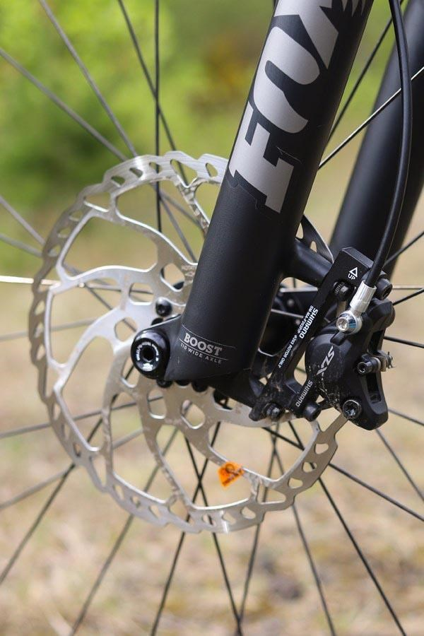 Specialized Stumpjumper front brake rotor detail