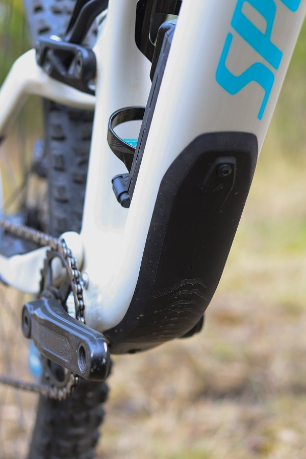 Specialized Stumpjumper downtube frame protector detail