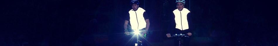 Cyclist wearing Proviz gilet
