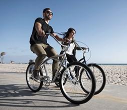 Cruiser bike on a beach