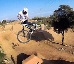 riding dirt jump trails