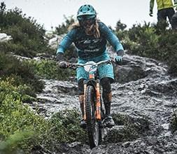 Yeti clothing on a cyclist