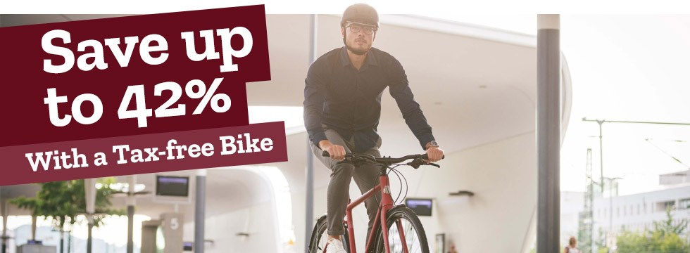 Save up to 42% with a tax free bike