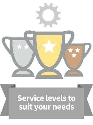 Service levels to suit your needs