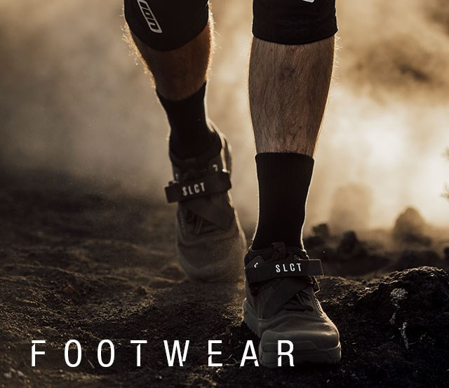Ion Shoes being worn while walking through dusty terrain