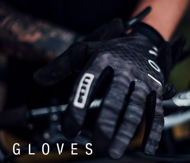 Ion Gloves being worn while mountain biking