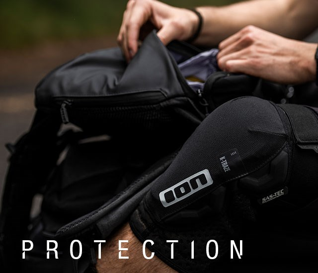 Ion Protection being worn while packing a riding backpack