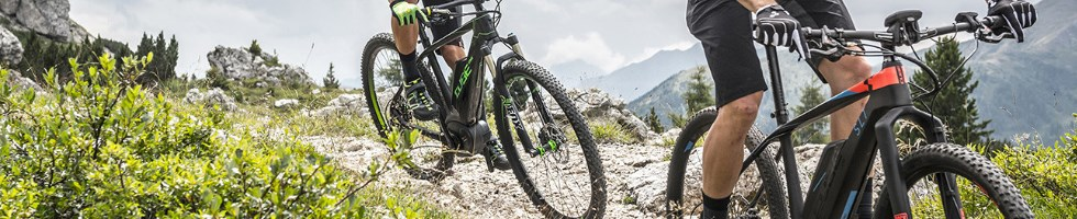 Mountain bikers on Cube eMTB hardtails