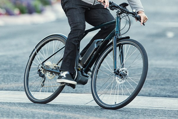 commuter riding an ebike