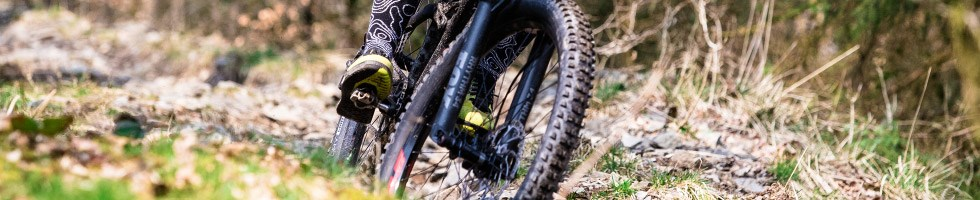 Mountain biker using some Shimano SPDs