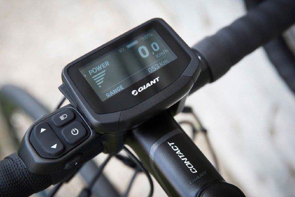 Bosch Kiox display on an electric MTB