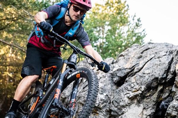 trail mountain biker