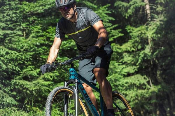 Mountain biker on a Cube hardtail