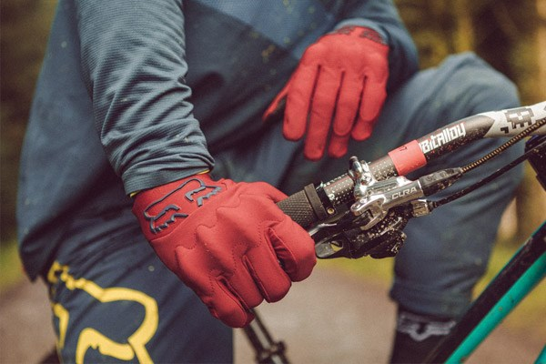 Loic Bruni wearing Fox DH trousers at Bike Park Wales