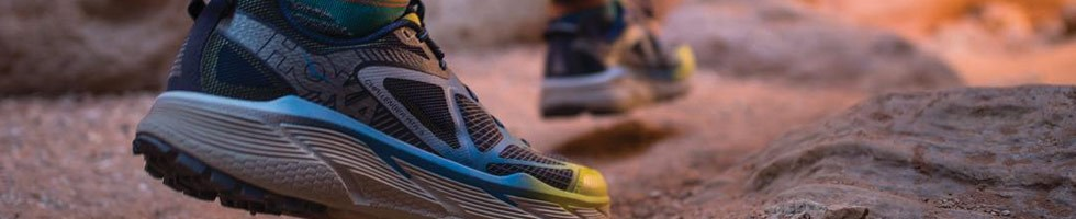 Trail running shoes with rugged grip