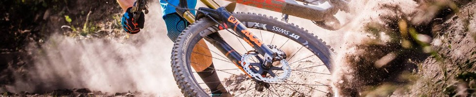 Schwalbe Magic Marys being used on a downhill course