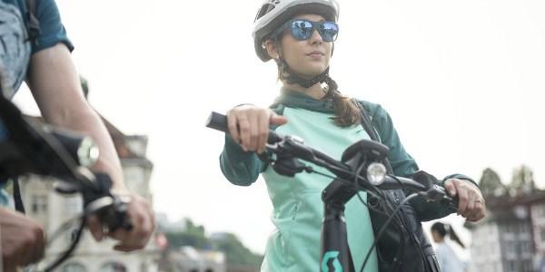 Cycle commuters taking a break