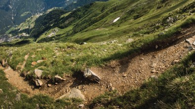 rough off-road track for mountain bikes