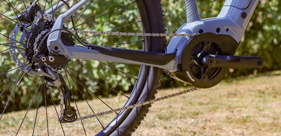 Cannondale Trail Neo 3 Shimano one-by drivetrain detail