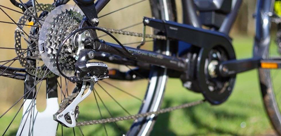 Raleigh Motus e bike drivetrain