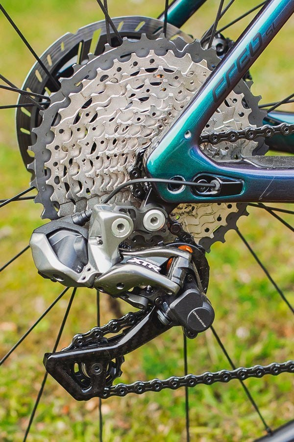 Specialized Turbo Creo SL XTR Di2 rear derailleur adn wide range cassette