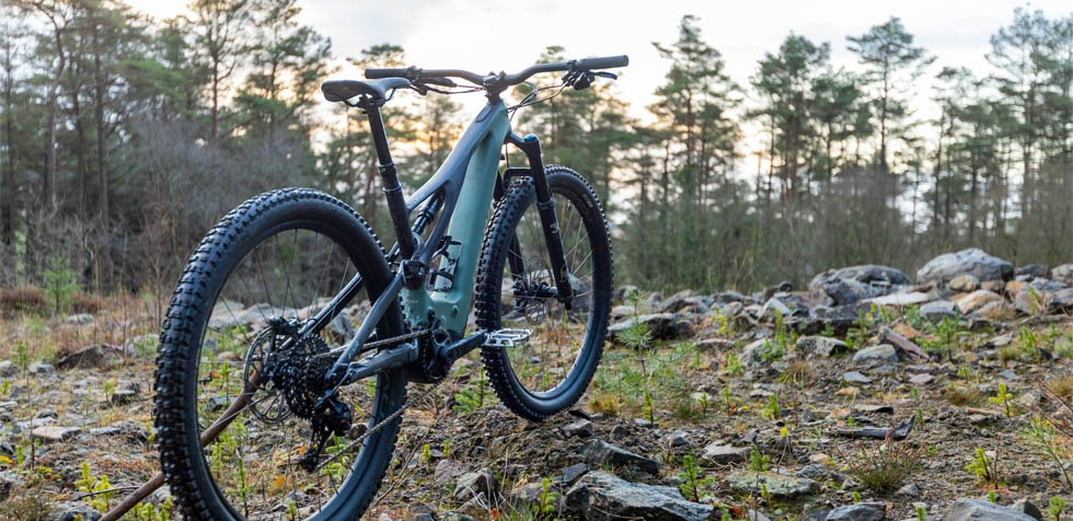 Specialized Turbo Levo Expert Carbon in the forest