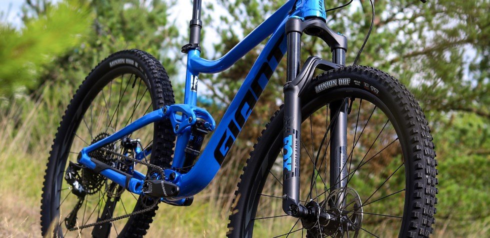 Giant Trance 29 2 suspension and frame detail