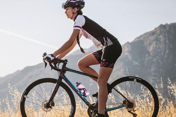 Female Liv cyclist on road bike
