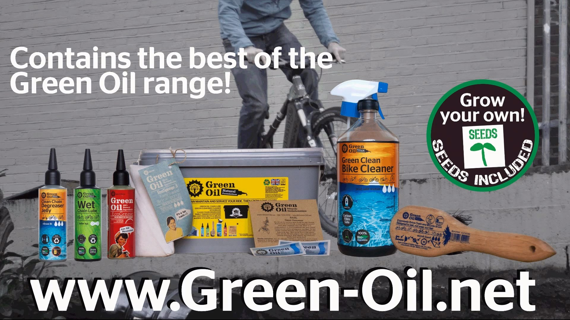 Green Oil Eco Rider Deluxe set
