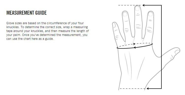 POC Glove Sizing