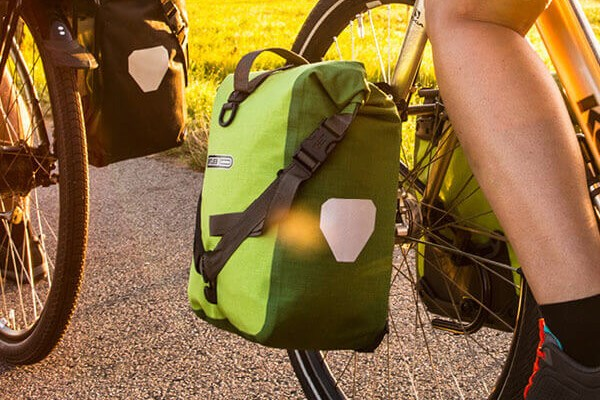 Ortlieb Front pannier bags on a bike