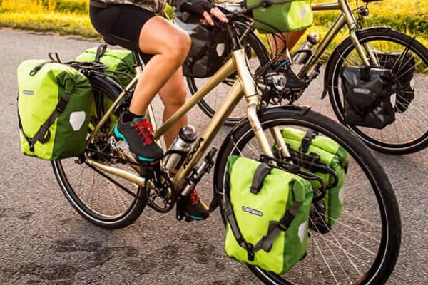 Ortlieb  pannier bags on bikes