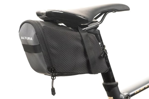 Saddle bag on a bike