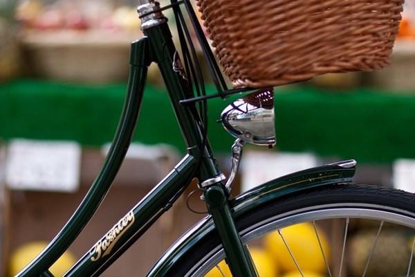 basket, mudguard and light on Pashley bike